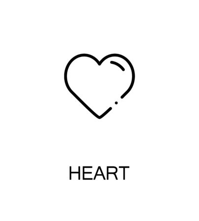white heart: Heart icon. Single high quality outline symbol for web design or mobile app. Thin line sign for design logo. Black outline pictogram on white background