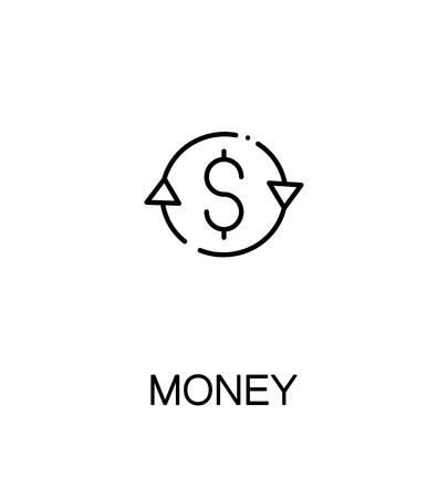 bribe: Money icon. Single high quality outline symbol for web design or mobile app. Thin line sign for design logo. Black outline pictogram on white background Illustration