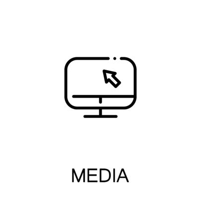 Mass Media Icon Single High Quality Outline Symbol For Web Design