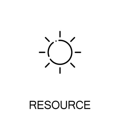 resourse: Resourse icon. Single high quality outline symbol for web design or mobile app. Thin line sign for design logo. Black outline pictogram on white background