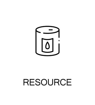 Resourse icon. Single high quality outline symbol for web design or mobile app. Thin line sign for design logo. Black outline pictogram on white background
