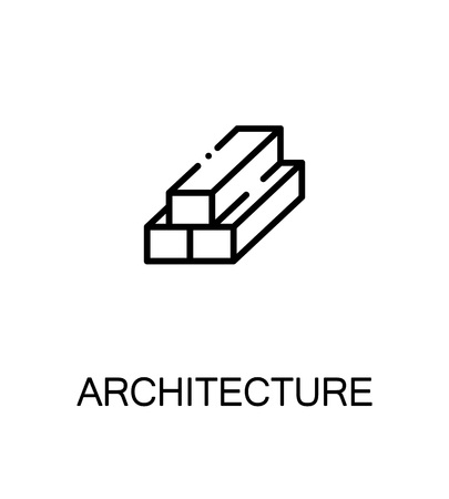 logging: Architecture icon. Single high quality outline symbol for web design or mobile app. Thin line sign for design logo. Black outline pictogram on white background