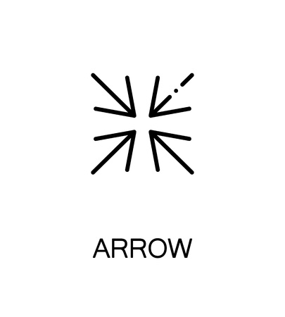 Arrow icon. Single high quality outline symbol for web design or mobile app. Thin line sign for design logo. Black outline pictogram on white background