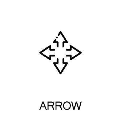 unfold: Arrow icon. Single high quality outline symbol for web design or mobile app. Thin line sign for design logo. Black outline pictogram on white background