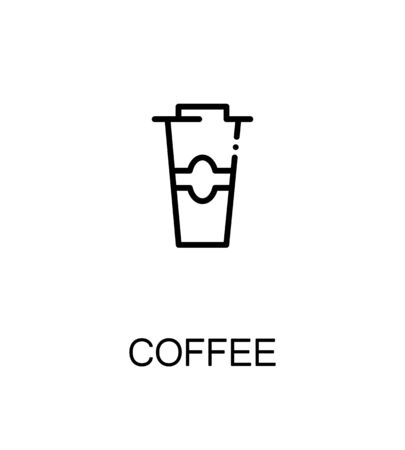 black coffee: Coffee icon. Single high quality outline symbol for web design or mobile app. Thin line sign for design logo. Black outline pictogram on white background Illustration