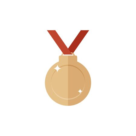 bronze medal: Bronze medal icon.Single high quality sign of bronze prize for webdesign or mobile app. Bronze award vector illustration. Color symbol on white background