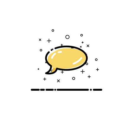 Speech bubble icon. Single high quality outline symbol for web design or mobile app. Thin line sign for design logo. Black outline pictogram on white background