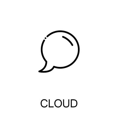 Dialog cloud icon. Single high quality outline symbol for web design or mobile app. Thin line sign for design logo. Black outline pictogram on white background Stock Photo