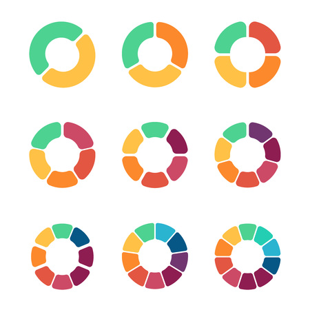 flat pie chart set in modern style for web design or mobile app rh 123rf com
