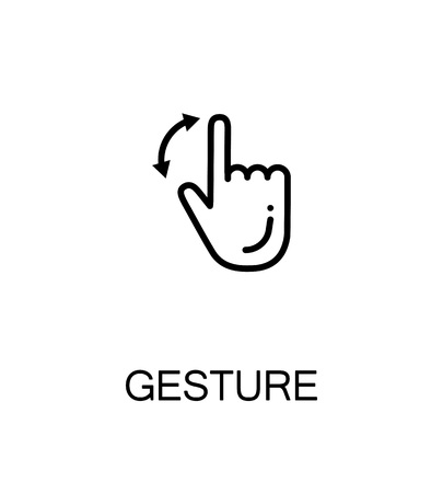 pinch: Touch screen gestures icon. Single high quality outline symbol for web design or mobile app. Thin line sign for design logo. Black outline pictogram on white background Illustration