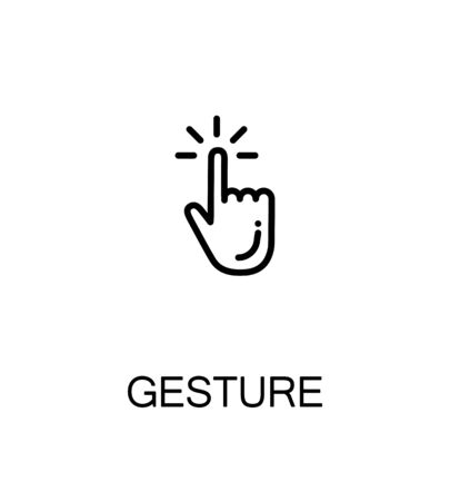 Touch screen gestures icon. Single high quality outline symbol for web design or mobile app. Thin line sign for design logo. Black outline pictogram on white background Illustration