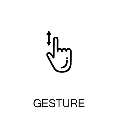 pinch: Touch screen gestures icon. Single high quality outline symbol for web design or mobile app. Thin line sign for design. Black outline pictogram on white background