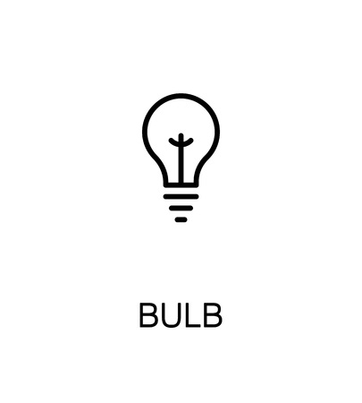halogen: Light bulb icon. Single high quality outline symbol for web design or mobile app. Thin line sign for design logo. Black outline pictogram on white background Illustration