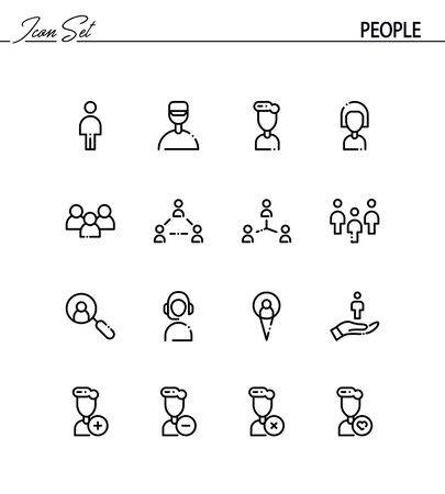 People Flat Icon Set Collection Of High Quality Outline Symbols
