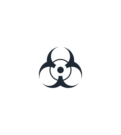 the bacteria signal: Chemical hazard silhouette  icon. High quality black outline Logo for web site design and mobile apps. Vector illustration on a white background.