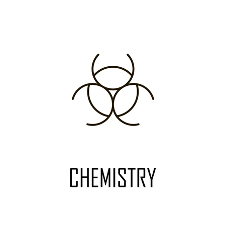 the bacteria signal: Chemical hazard line icon vector illustration on a white background. Illustration