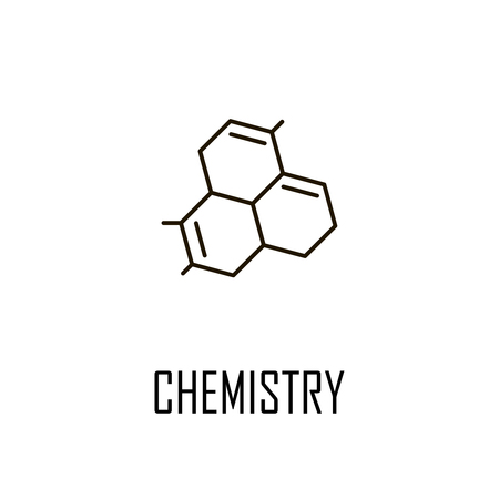 Molecule line icon vector illustration on a white background.