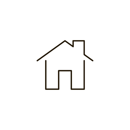 Home Flat Icon Single High Quality Symbol Of Line House Vector