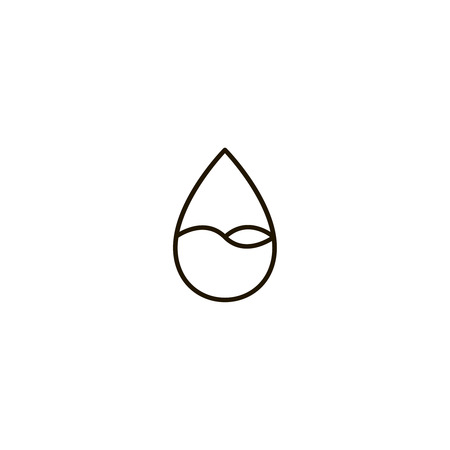 Water Drop Flat Icon Single High Quality Symbol Of Line Drop Vector