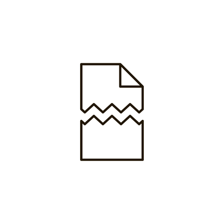 Printing paper flat icon. Single high quality symbol of line paper vector for web design or mobile app. Color signs of document for design logo. Single pictogram of newspaper on white background