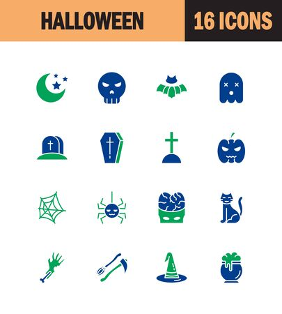 spider web: Halloween icon set. Collection of party line icons. High quality logos of ghost, horror, pumpkin on white background. Pack of symbols for design website, mobile app, printed material, etc.