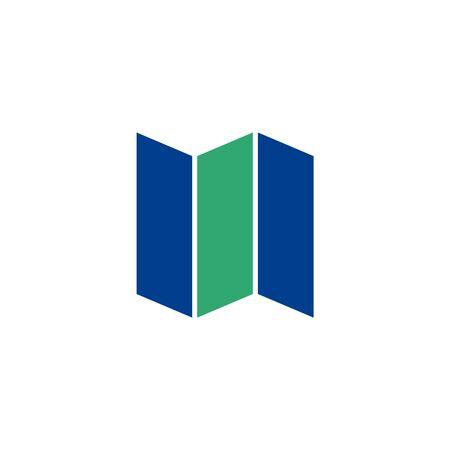 rectangle: Printing paper flat icon. Illustration