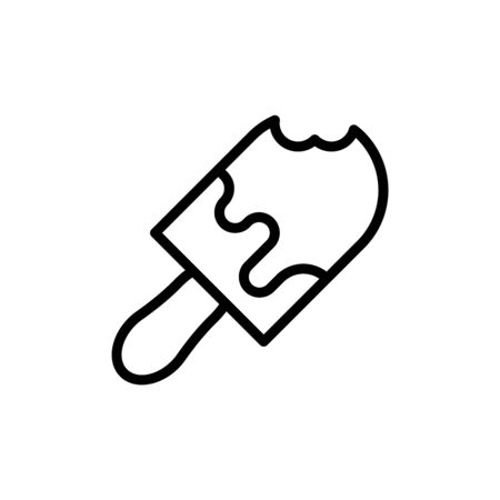 Ice cream flat icon. Single high quality outline symbol of summer for web design or mobile app. Thin line signs of food for design logo, visit card, etc. Outline logo of sweet