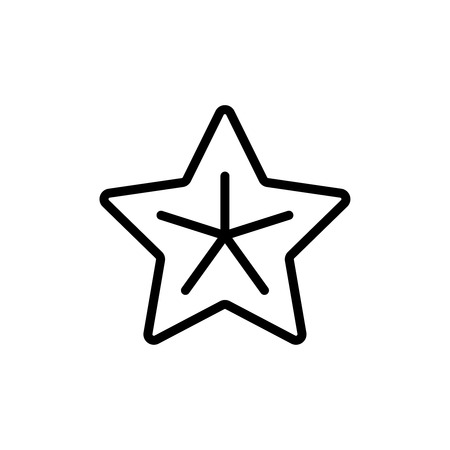 five stars: Starfish flat icon. Single high quality outline symbol of summer for web design or mobile app. Thin line signs of sea star for design logo, visit card, etc. Outline logo of holiday