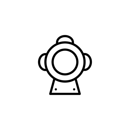 air pressure: Scuba flat icon. Single high quality outline symbol of summer for web design or mobile app. Thin line signs of swiming for design logo, visit card, etc. Outline logo of diving