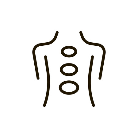 Massgae circle flat icon. Single high quality outline symbol of spa for web design or mobile app. Thin line signs of beauty for design logo, visit card, etc. Outline logo of massage