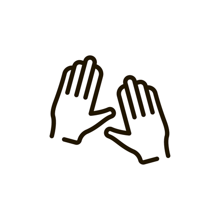 手サークル フラット アイコン。Web デザインやモバイル アプリのスパの単一の高品質アウトライン記号