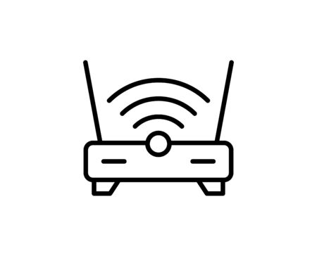 Wifi router premium line icon. Simple high quality pictogram. Modern outline style icons. Stroke vector illustration on a white background.