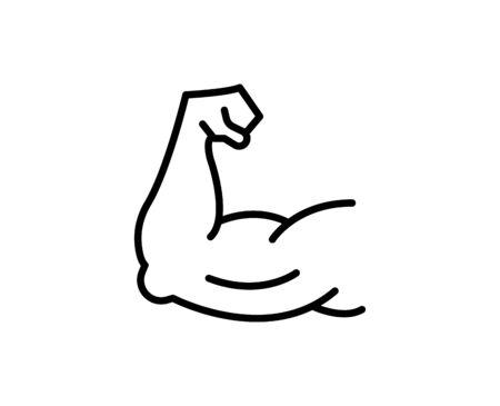 Arm line icon. High quality outline symbol for web design or mobile app. Thin line sign for design logo. Black outline pictogram on white background 矢量图像