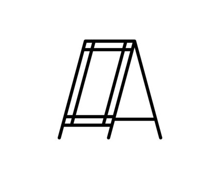 Billboard line icon. High quality outline symbol for web design or mobile app. Thin line sign for design logo. Black outline pictogram on white background