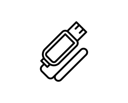 Usb flash premium line icon. Simple high quality pictogram. Modern outline style icons. Stroke vector illustration on a white background.