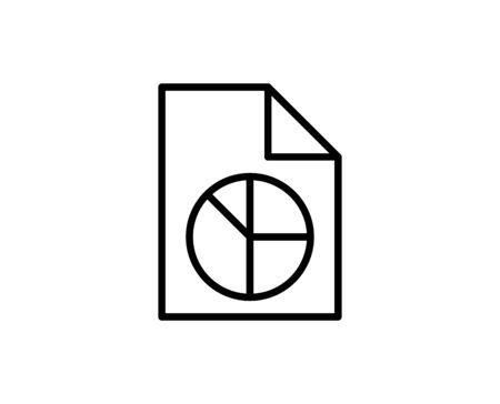 Repot line icon. High quality outline symbol for web design or mobile app. Thin line sign for design logo. Black outline pictogram on white background