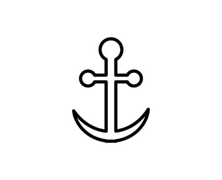 Anchor premium line icon. Simple high quality pictogram. Modern outline style icons. Stroke vector illustration on a white background.  Ilustração