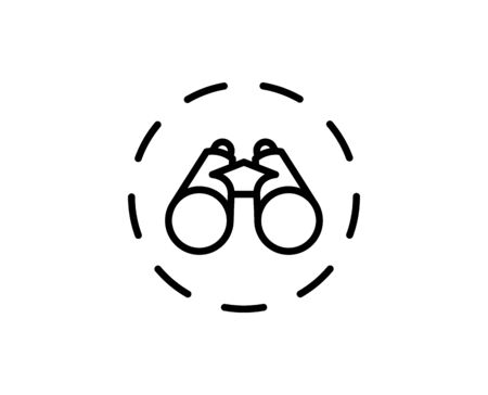 Binoculars premium line icon. Simple high quality pictogram. Modern outline style icons. Stroke vector illustration on a white background.