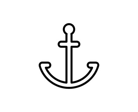 Anchor premium line icon. Simple high quality pictogram. Modern outline style icons. Stroke vector illustration on a white background.  Illustration