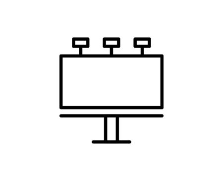 Billboard premium line icon. Simple high quality pictogram. Modern outline style icons. Stroke vector illustration on a white background.