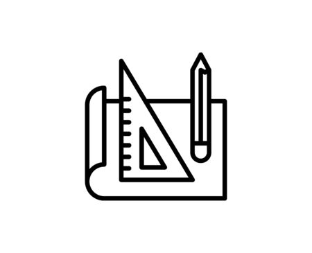 Plan flat icon. Single high quality outline symbol for web design or mobile app.  Plan thin line signs for design logo, visit card, etc. Outline pictogram EPS10