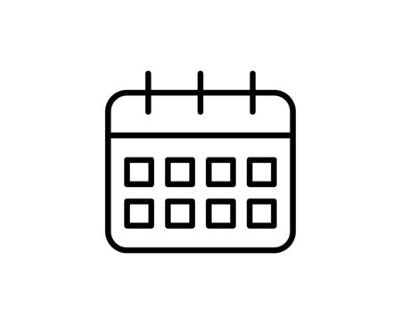 Calendar line icon. Vector symbol in trendy flat style on white background. Calendar sing for design.