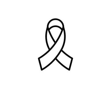 CANCER RIBBON premium line icon. Simple high quality pictogram. Modern outline style icons. Stroke vector illustration on a white background. Illustration