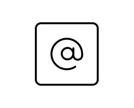 E-mail line icon. High quality outline symbol for web design or mobile app. Thin line sign for design logo. Black outline pictogram on white background