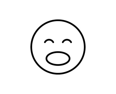Emoji flat icon. Thin line signs for design logo, visit card, etc. Single high-quality outline symbol for web design or mobile app. Emoji outline pictogram.