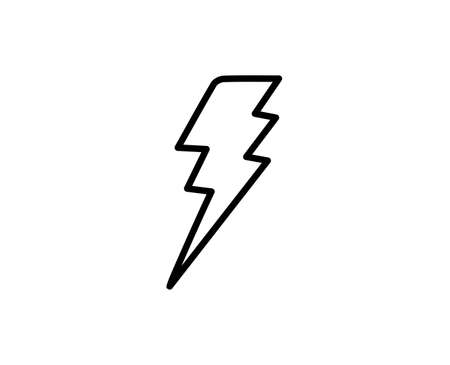 Flash line icon. Vector symbol in trendy flat style on white background. Flash sing for design.