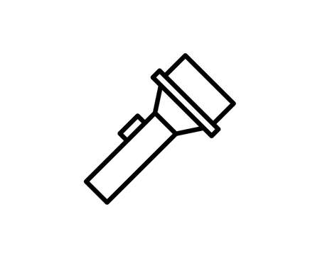 Flashlight premium line icon. Simple high quality pictogram. Modern outline style icons. Stroke vector illustration on a white background.