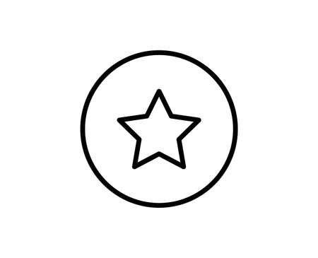 Star line icon. Vector symbol in trendy flat style on white background. Web sing for design. Illusztráció
