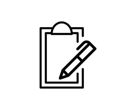 Clipboard line icon. Vector symbol in trendy flat style on white background. Web sing for design.