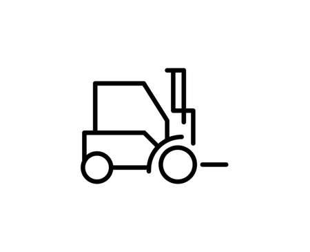 Forklift flat icon. Single high quality outline symbol for web design or mobile app. Forklift thin line signs for design logo, visit card, etc. Outline pictogram EPS10